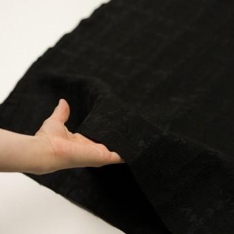 ウール&ナイロン混×幾何学模様(ブラック)×ジャガード サムネイル5