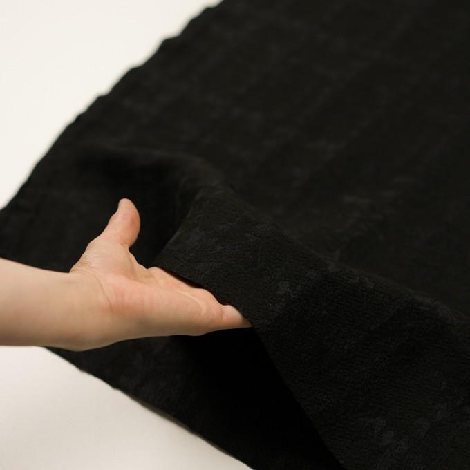 ウール&ナイロン混×幾何学模様(ブラック)×ジャガード イメージ5