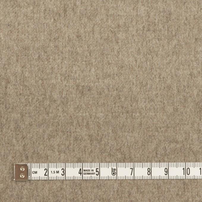 ウール×無地(グレイッシュベージュ&アッシュカーキグリーン)×Wフェイスフラノ イメージ4