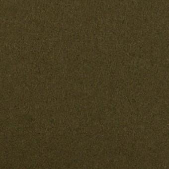 【190cmカット】ウール×無地(カーキグリーン)×フラノ(フランネル)