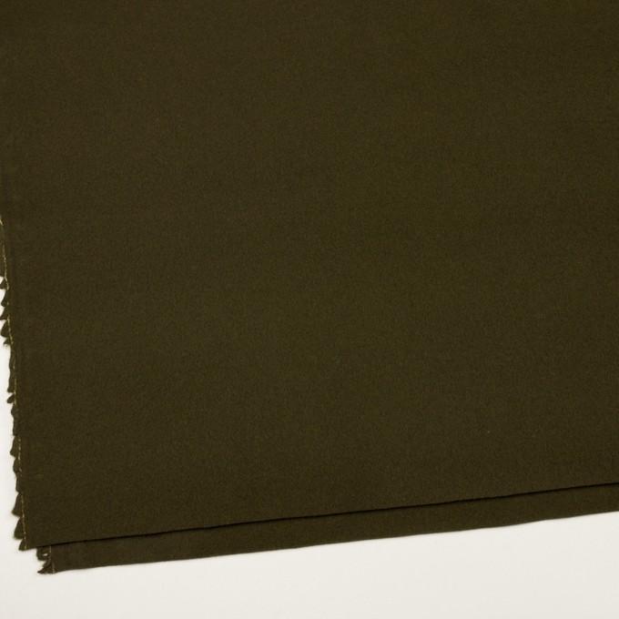 ウール&ナイロン×無地(カーキグリーン)×フラノ(フランネル) イメージ2