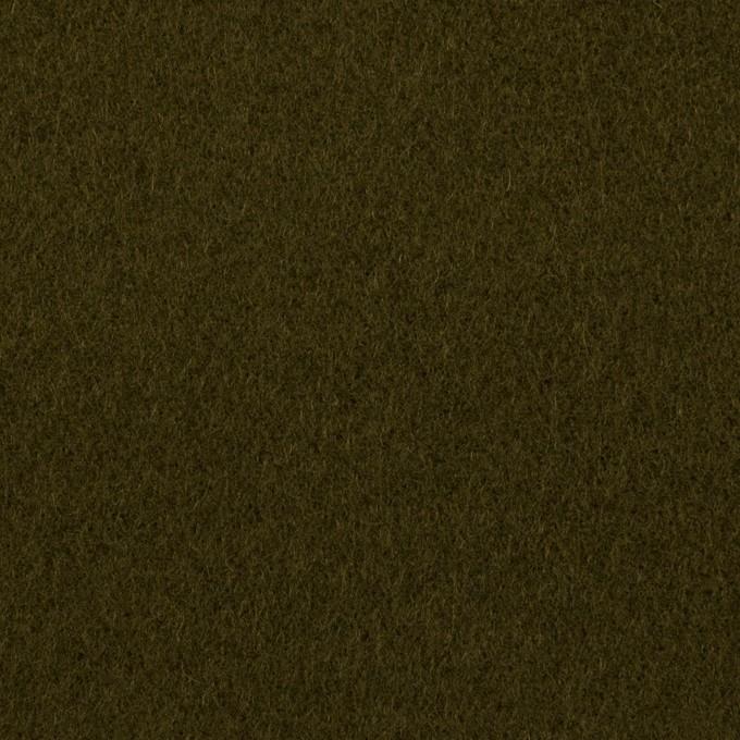 ウール&ナイロン×無地(カーキグリーン)×フラノ(フランネル) イメージ1