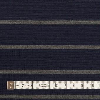 ウール×ボーダー(ネイビー&グレー)×天竺ニット サムネイル4