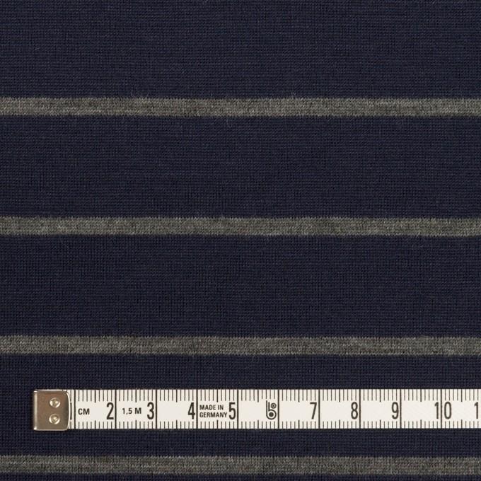 ウール×ボーダー(ネイビー&グレー)×天竺ニット イメージ4