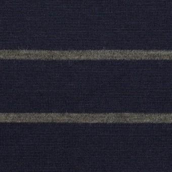 ウール×ボーダー(ネイビー&グレー)×天竺ニット