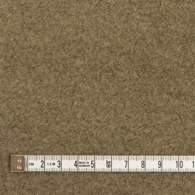 コットン&ウール×無地(カーキ)×ループニット イメージ4