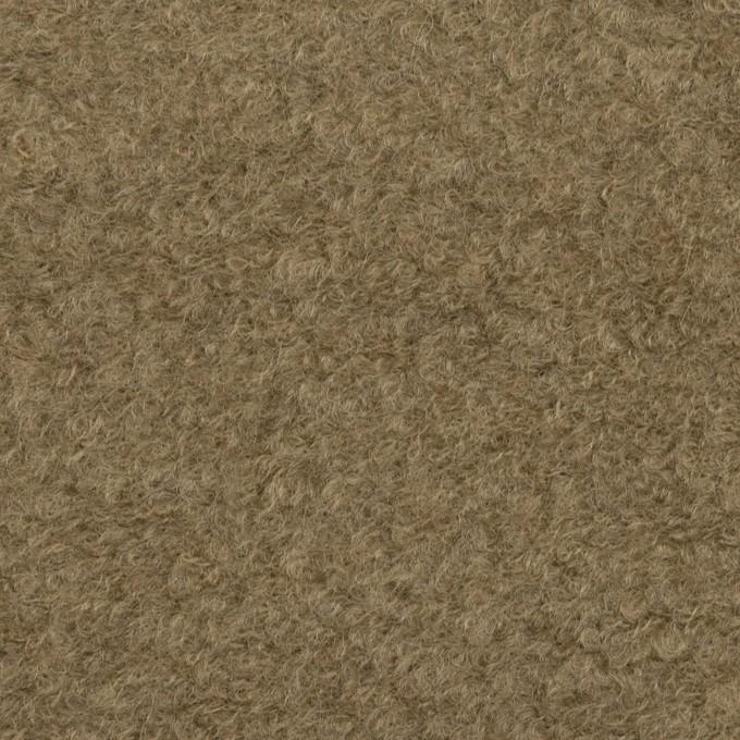 コットン&ウール×無地(カーキ)×ループニット イメージ1