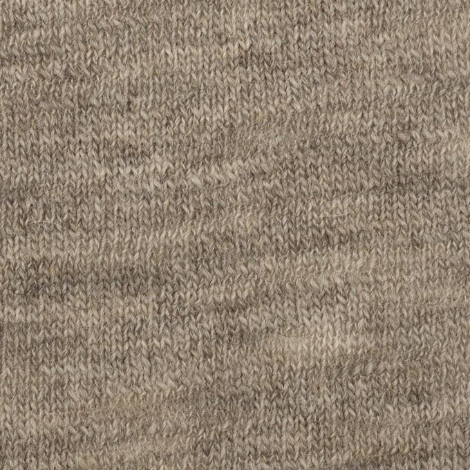 ウール×無地(グレイッシュベージュ)×天竺ニット_全3色 イメージ1
