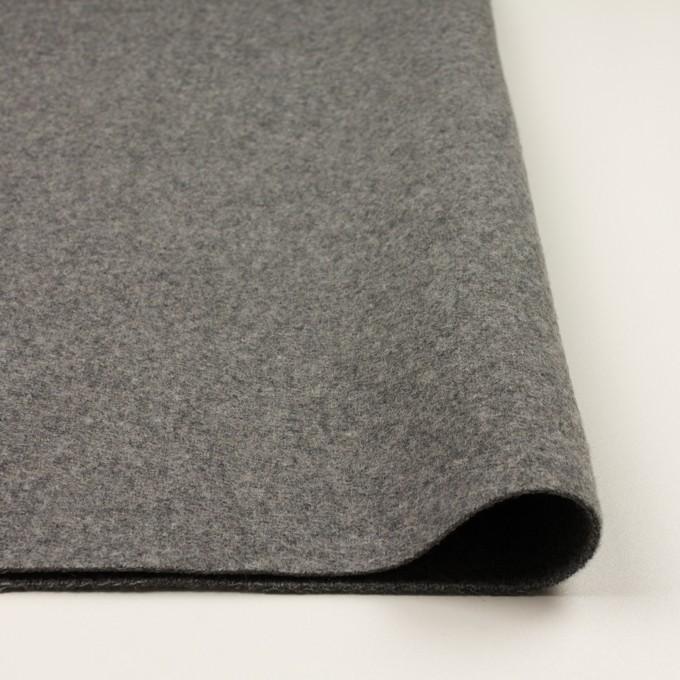 ウール&ナイロン×無地(グレー)×二重織 イメージ3