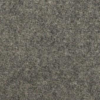 ウール&ナイロン×無地(グレー)×二重織