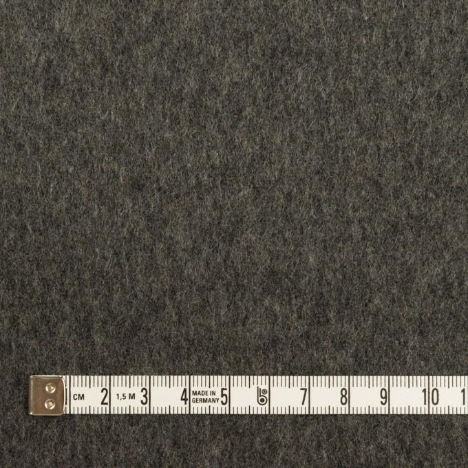 ウール×無地(チャコールグレー)×Wフェイスフラノ イメージ4