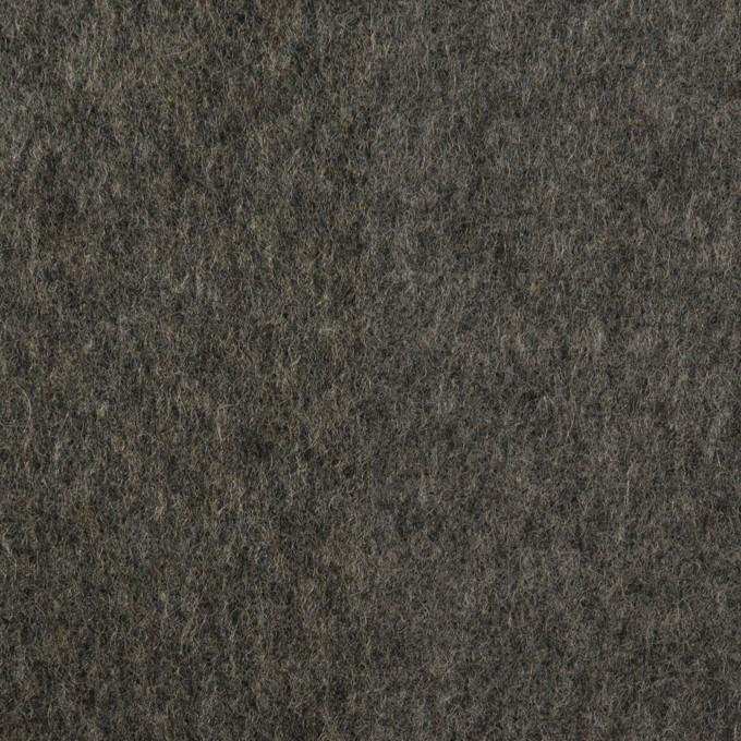 ウール×無地(チャコールグレー)×Wフェイスフラノ イメージ1
