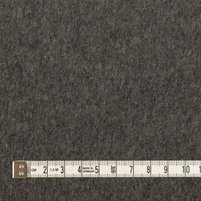 ウール×無地(チャコールグレー)×Wフェイスフラノ イメージ6