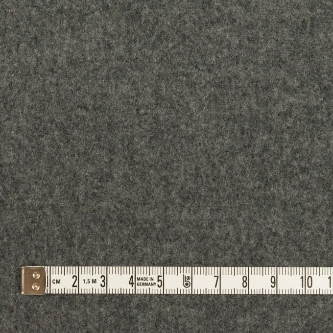 ウール×無地(グレー&チャコールグレー)×Wフェイスフラノ イメージ4