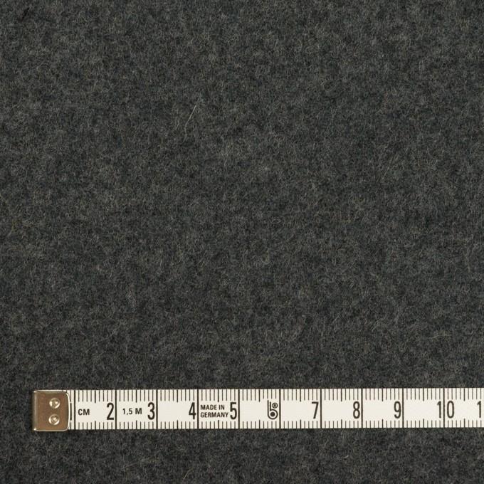ウール×無地(グレー&チャコールグレー)×Wフェイスフラノ イメージ6