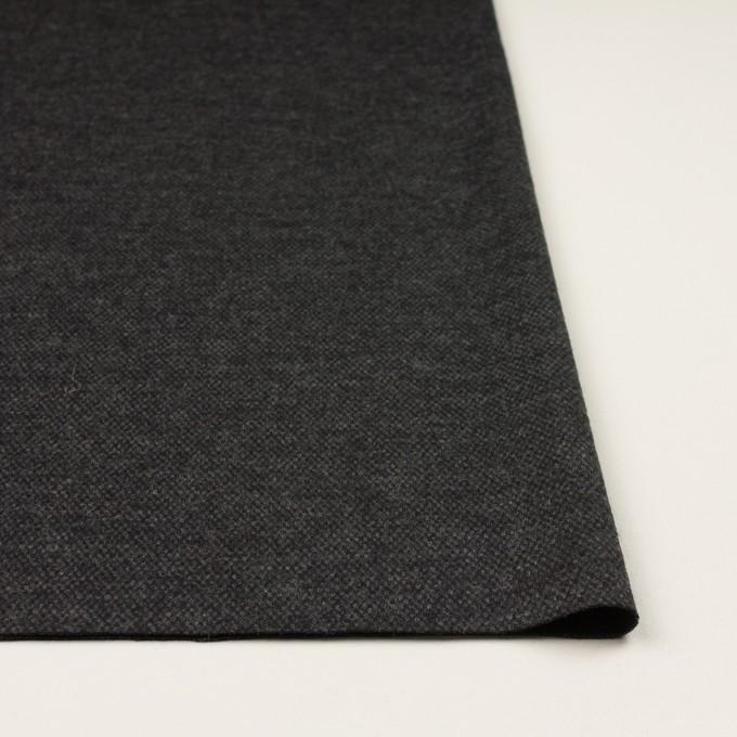 ウール×無地(チャコールグレー)×Wニット イメージ3