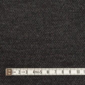 ウール×無地(チャコールグレー)×Wニット サムネイル4