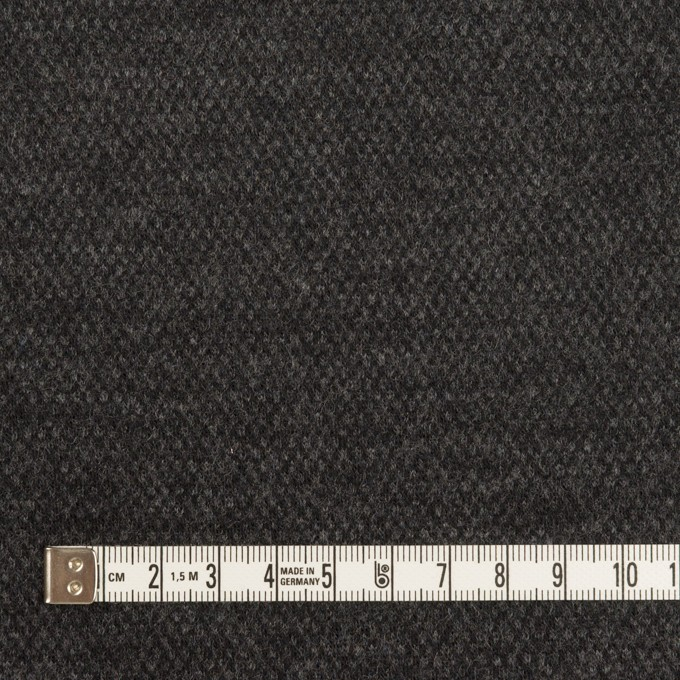 ウール×無地(チャコールグレー)×Wニット イメージ4