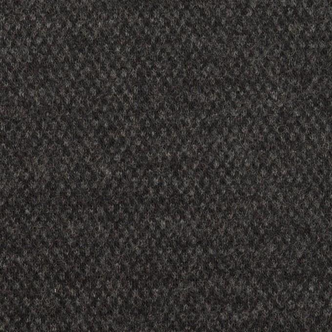 ウール×無地(チャコールグレー)×Wニット イメージ1