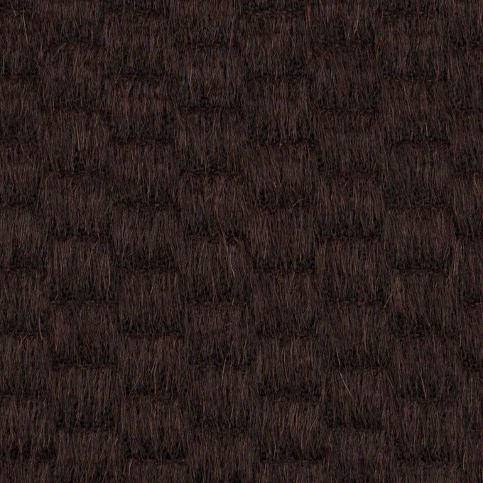 ウール&アンゴラ×無地(チョコレート)×シャギー_全2色 イメージ1