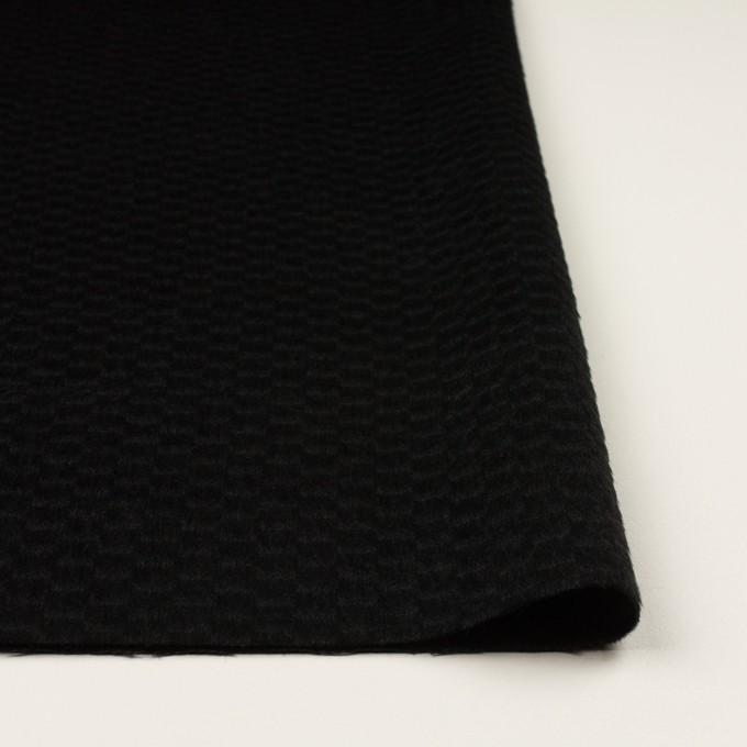 ウール&アンゴラ×無地(ブラック)×シャギー_全2色 イメージ3