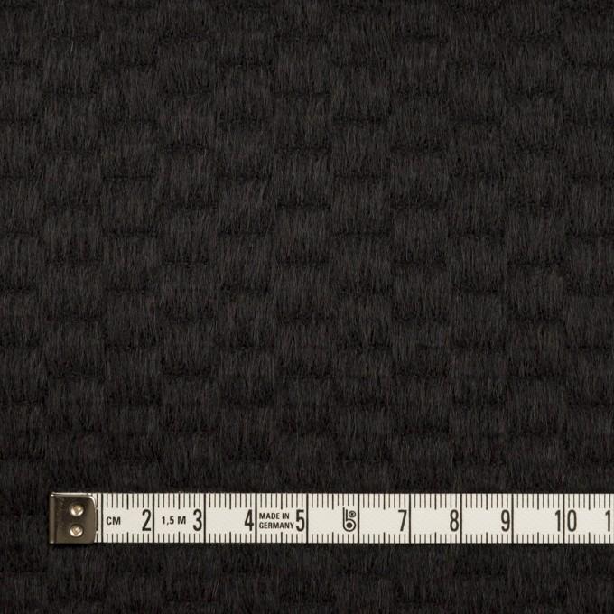 ウール&アンゴラ×無地(ブラック)×シャギー_全2色 イメージ4