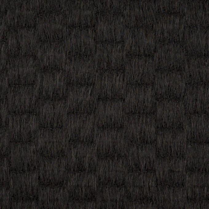 ウール&アンゴラ×無地(ブラック)×シャギー_全2色 イメージ1
