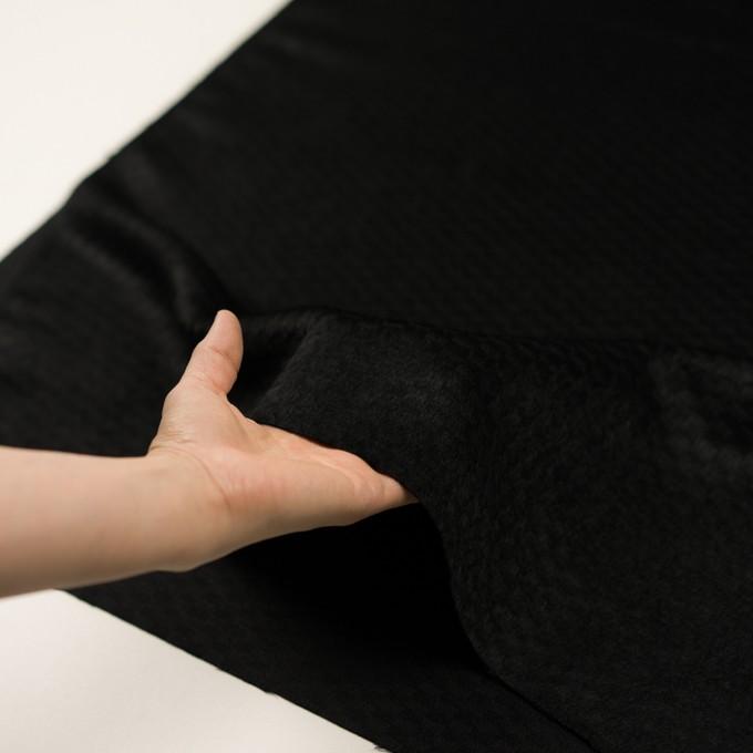 ウール&アンゴラ×無地(ブラック)×シャギー_全2色 イメージ5
