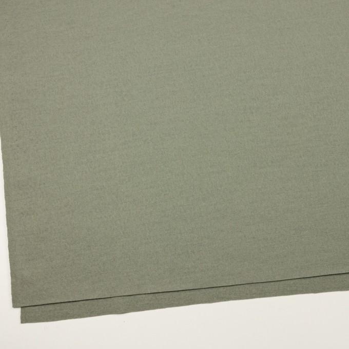 ウール×無地(セージグリーン)×圧縮ニット イメージ2