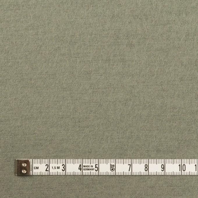 ウール×無地(セージグリーン)×圧縮ニット イメージ4