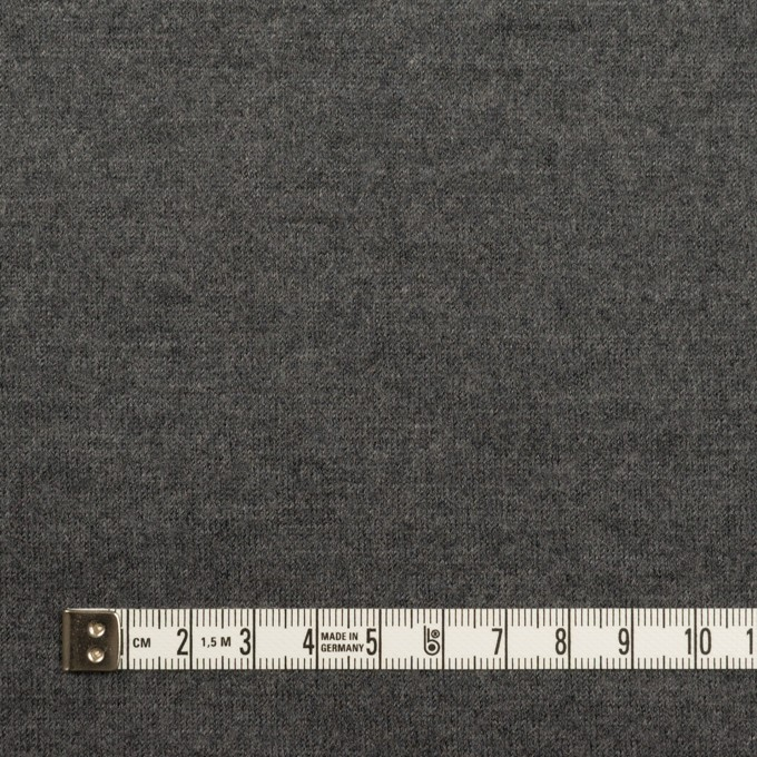 ウール×無地(チャコールグレー)×天竺ニット イメージ4