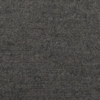ウール×無地(チャコールグレー)×天竺ニット