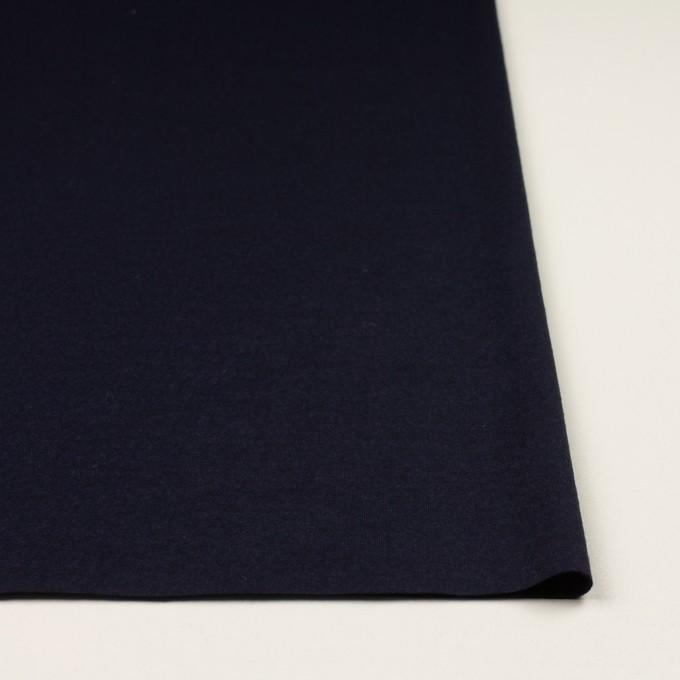 ウール&ナイロン×無地(ネイビー)×天竺ニット イメージ3