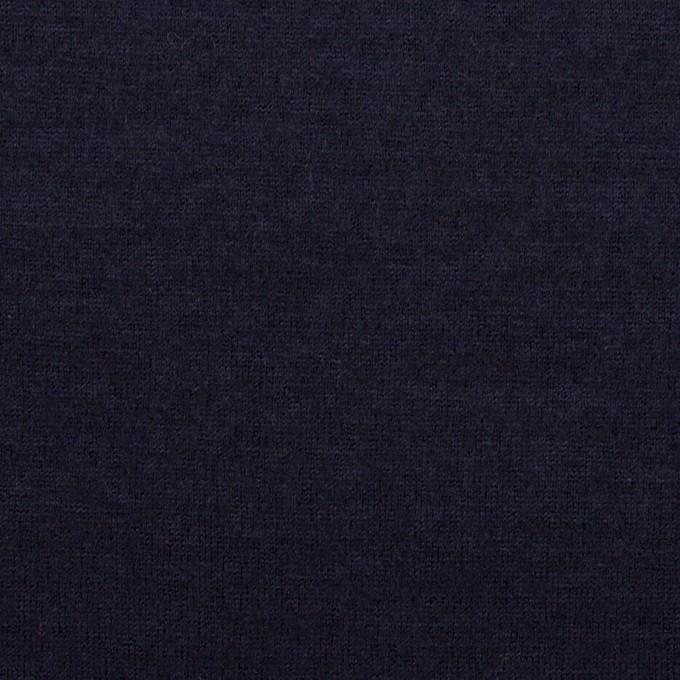 ウール&ナイロン×無地(ネイビー)×天竺ニット イメージ1