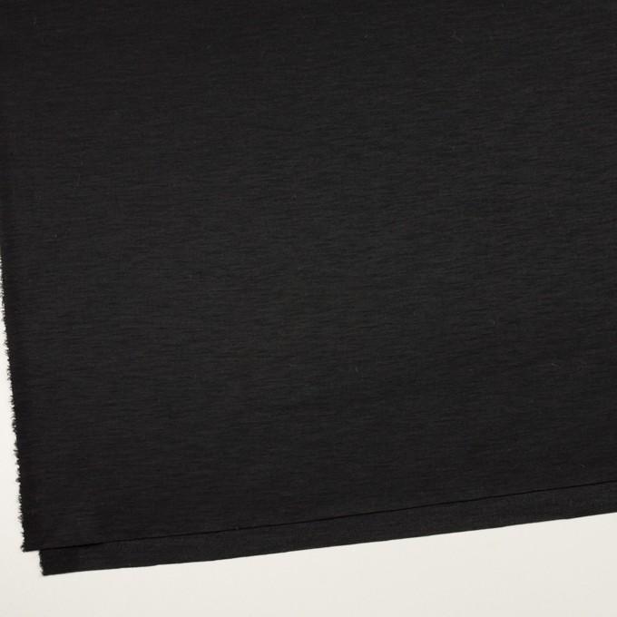 ウール&ナイロン×無地(チャコールブラック)×かわり編みニット イメージ2