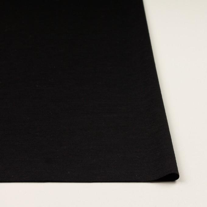 ウール&ナイロン×無地(チャコールブラック)×かわり編みニット イメージ3