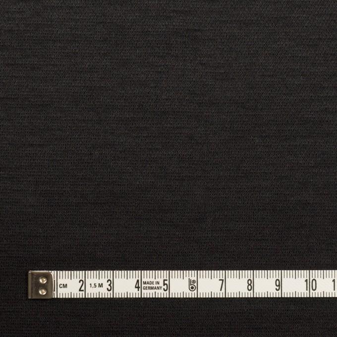 ウール&ナイロン×無地(チャコールブラック)×かわり編みニット イメージ4