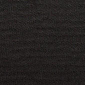 ウール&ナイロン×無地(チャコールブラック)×かわり編みニット