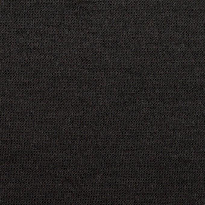 ウール&ナイロン×無地(チャコールブラック)×かわり編みニット イメージ1
