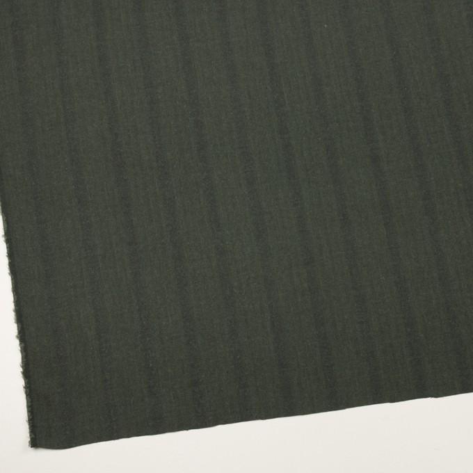 コットン×ストライプ(カーキグリーン)×ヘリンボーン イメージ2