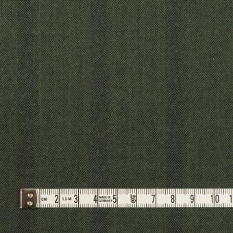 コットン×ストライプ(カーキグリーン)×ヘリンボーン サムネイル4