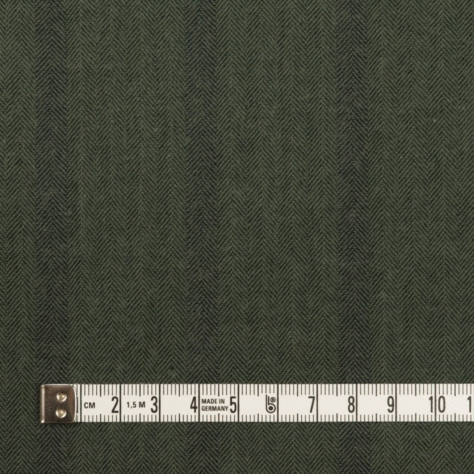 コットン×ストライプ(カーキグリーン)×ヘリンボーン イメージ4