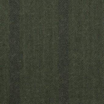 コットン×ストライプ(カーキグリーン)×ヘリンボーン