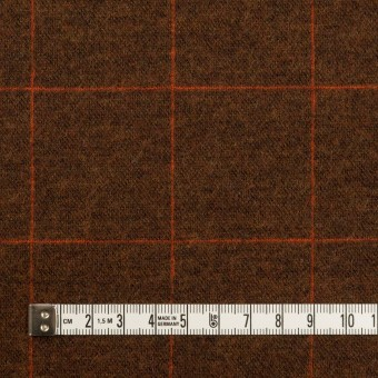 ウール&アクリル混×チェック(レンガ)×Wニット サムネイル4