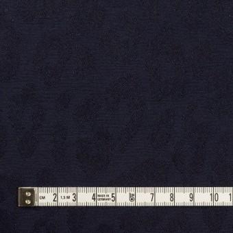 コットン&ポリウレタン×レオパード(ネイビー)×ジャガード・ストレッチ サムネイル4