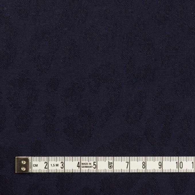 コットン&ポリウレタン×レオパード(ネイビー)×ジャガード・ストレッチ イメージ4