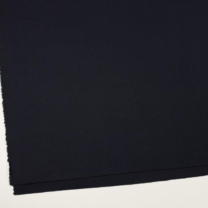 ウール&ポリウレタン×無地(ダークネイビー)×ツイードストレッチ イメージ2