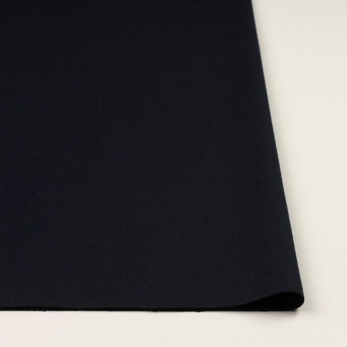 ウール&ポリウレタン×無地(ダークネイビー)×ツイードストレッチ イメージ3