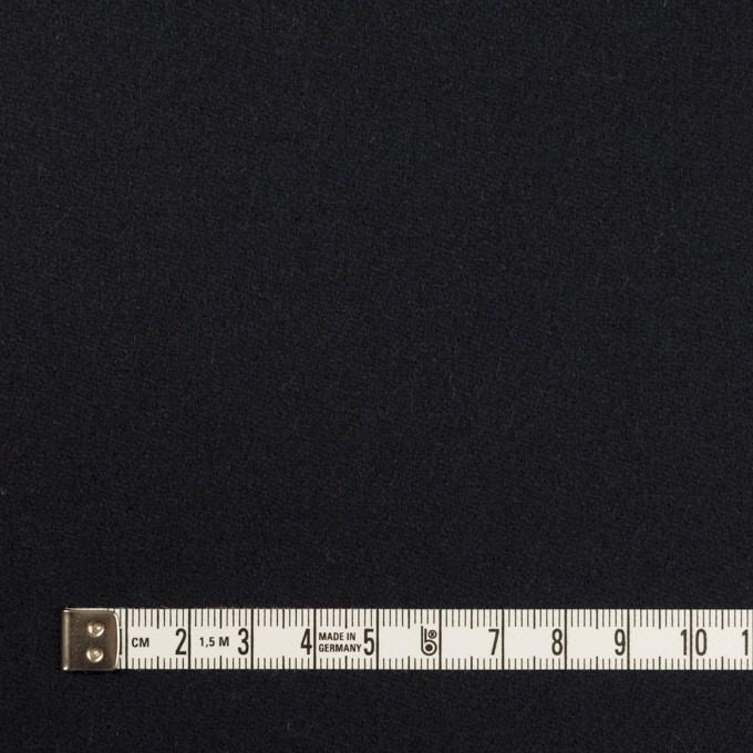 ウール&ポリウレタン×無地(ダークネイビー)×ツイードストレッチ イメージ4