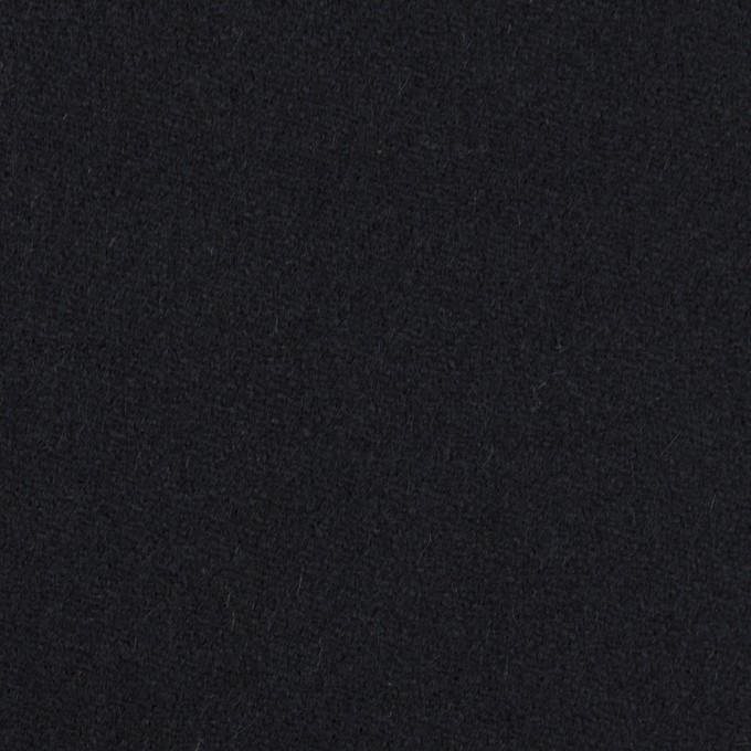 ウール&ポリウレタン×無地(ダークネイビー)×ツイードストレッチ イメージ1